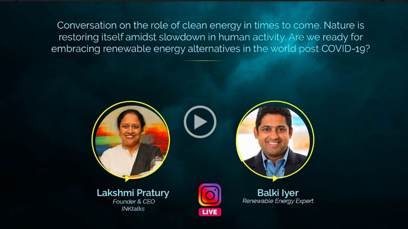 Embracing renewable energy in post COVID-19 world: Balki Iyer